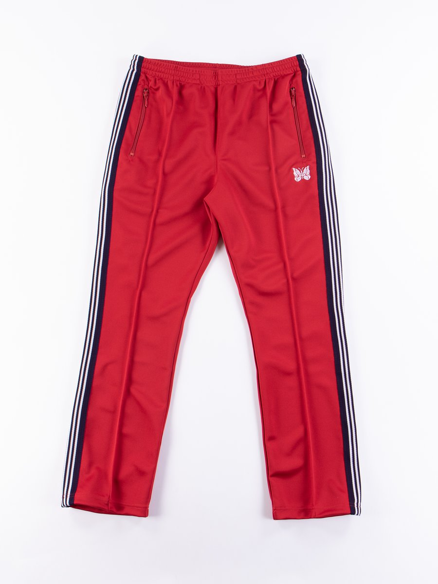 Red Narrow Track Pant