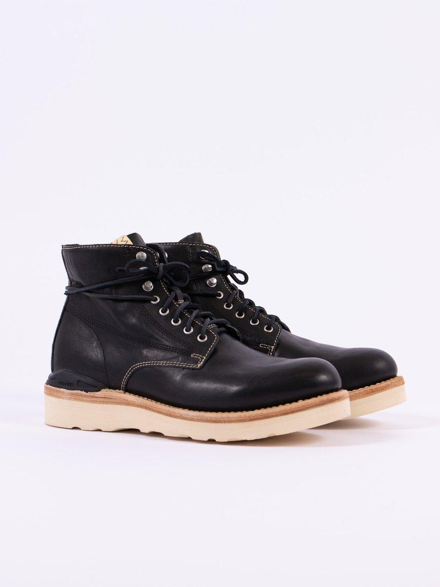 Black Horsehide Virgil Boots–Folk