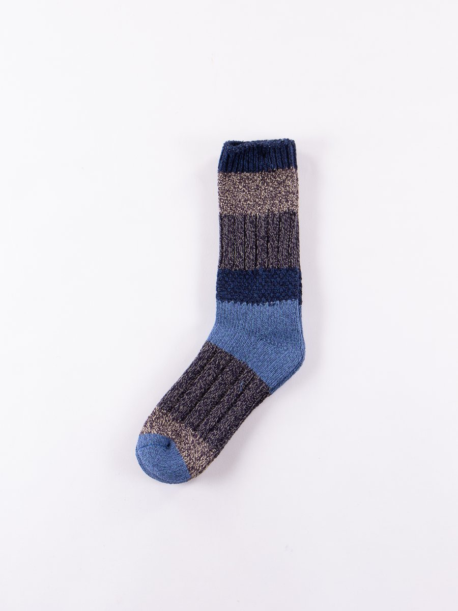 Navy/Blue 56 Yarns Kogin Grandrelle Stretch Socks