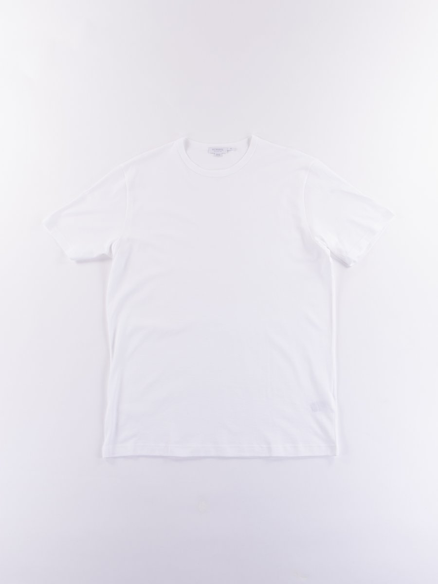 White Short Sleeve Classic Crew Neck T–Shirt