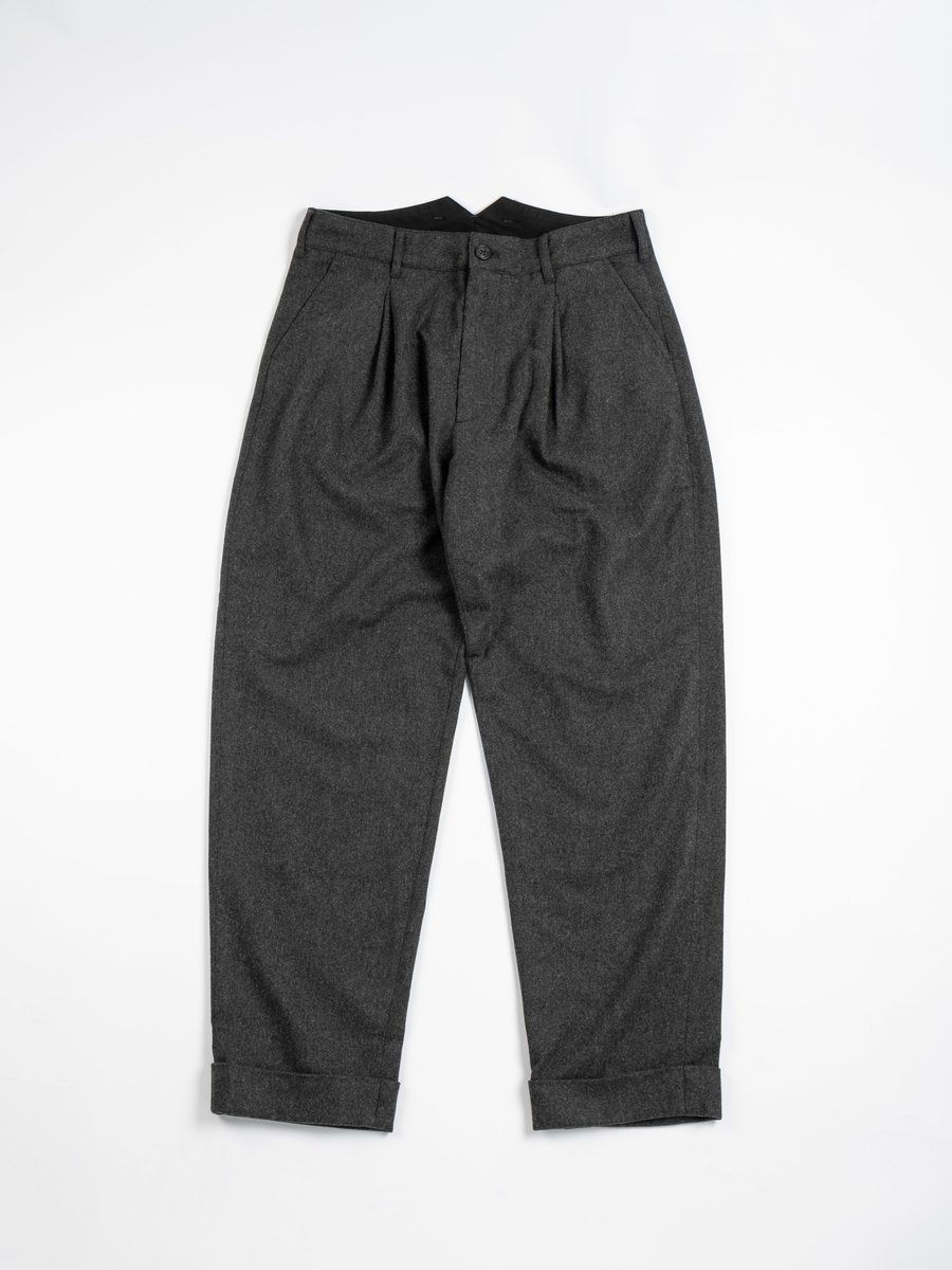 WP PANT GREY WOOL CASHMERE FLANNEL