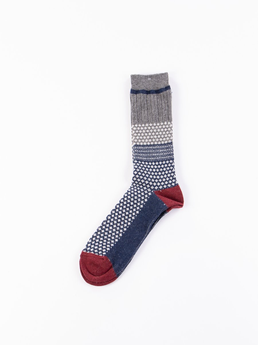 Dark Navy Chesnut JQ Crew Socks
