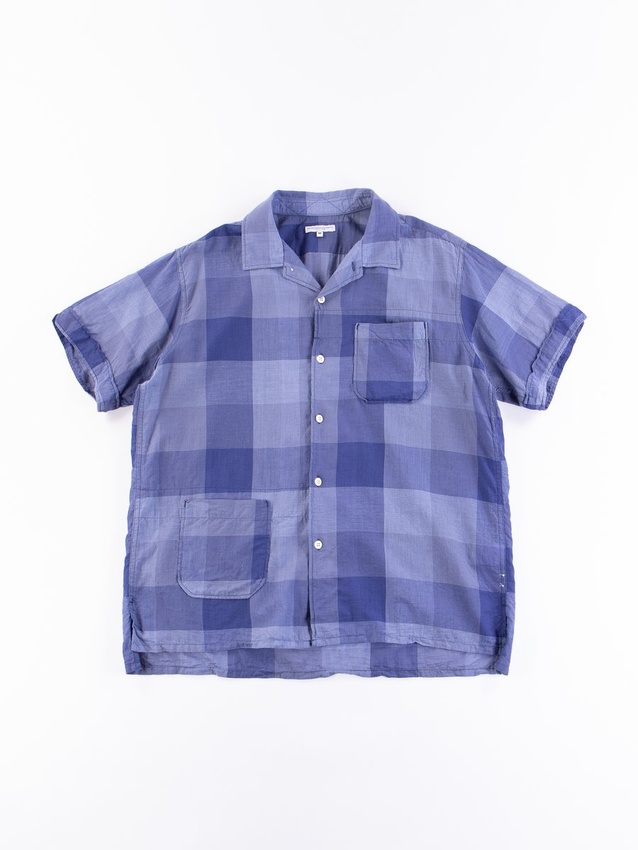 Blue Block Check CL Lawn Camp Shirt