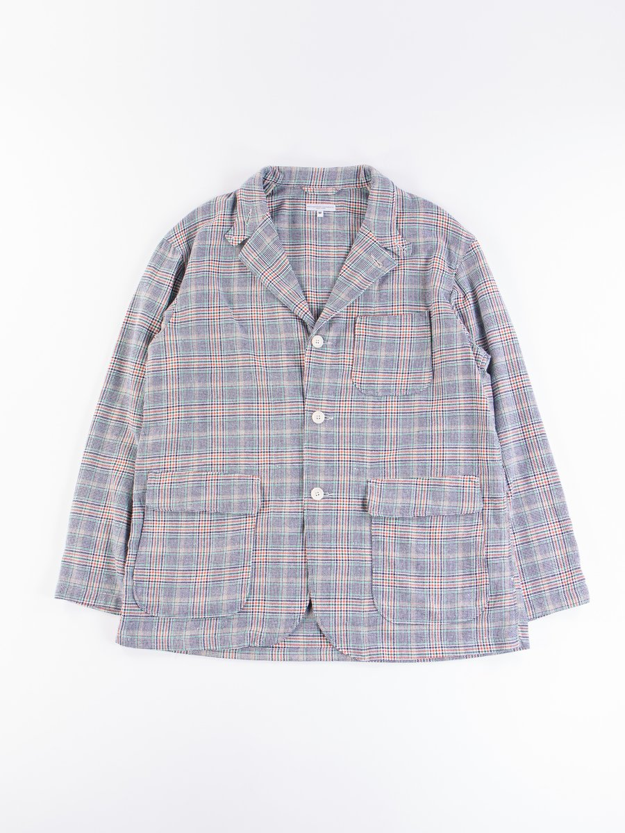 Navy/Green/Orange CP Glen Plaid Loiter Jacket