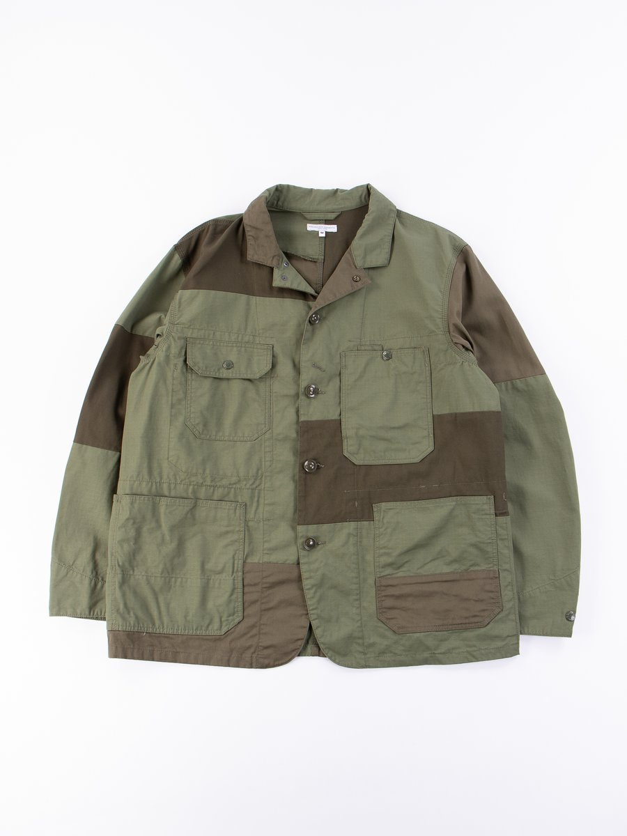 Olive Cotton Ripstop Logger Jacket
