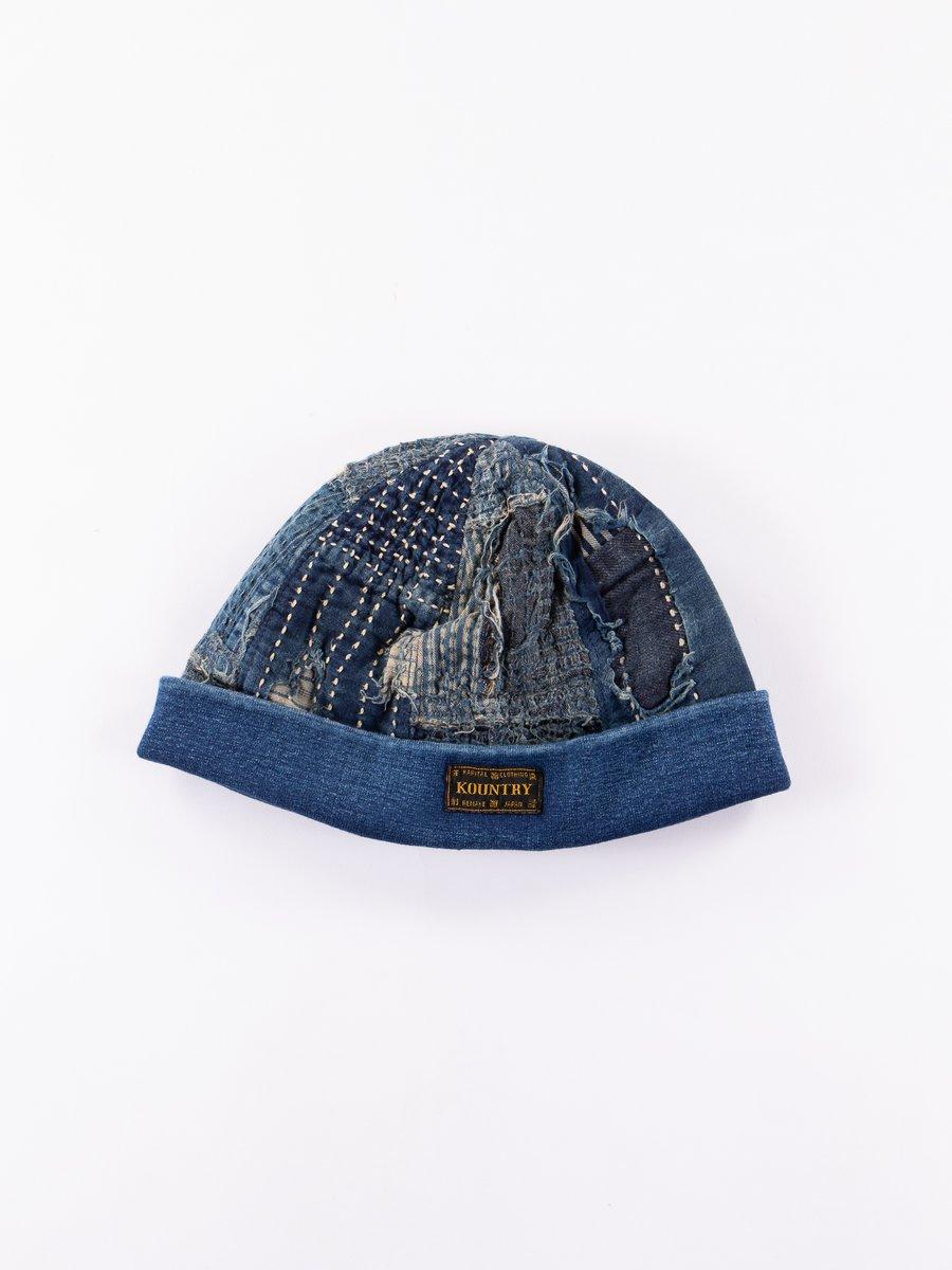 Indigo Kountry BORO Rib Knit Cap