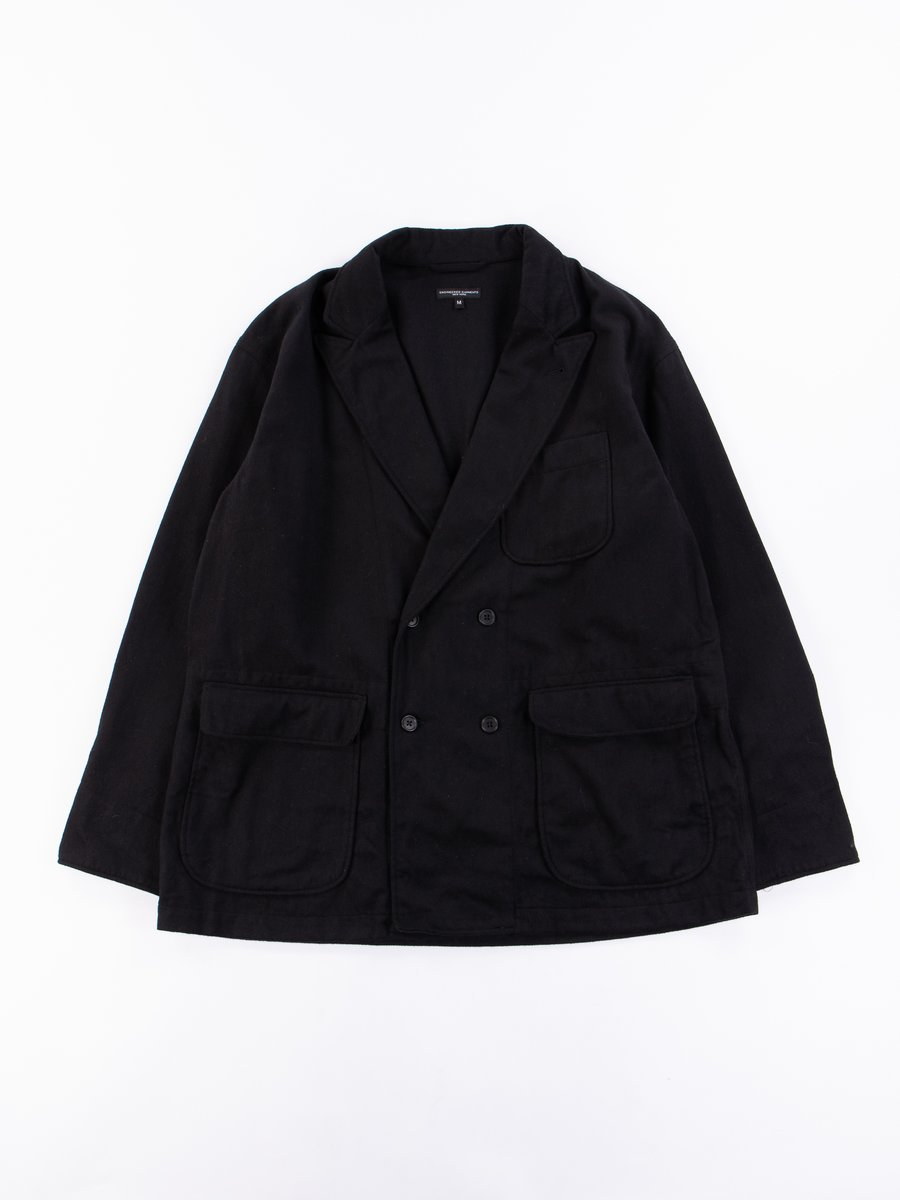 Black Wool Cotton Flannel DL Jacket
