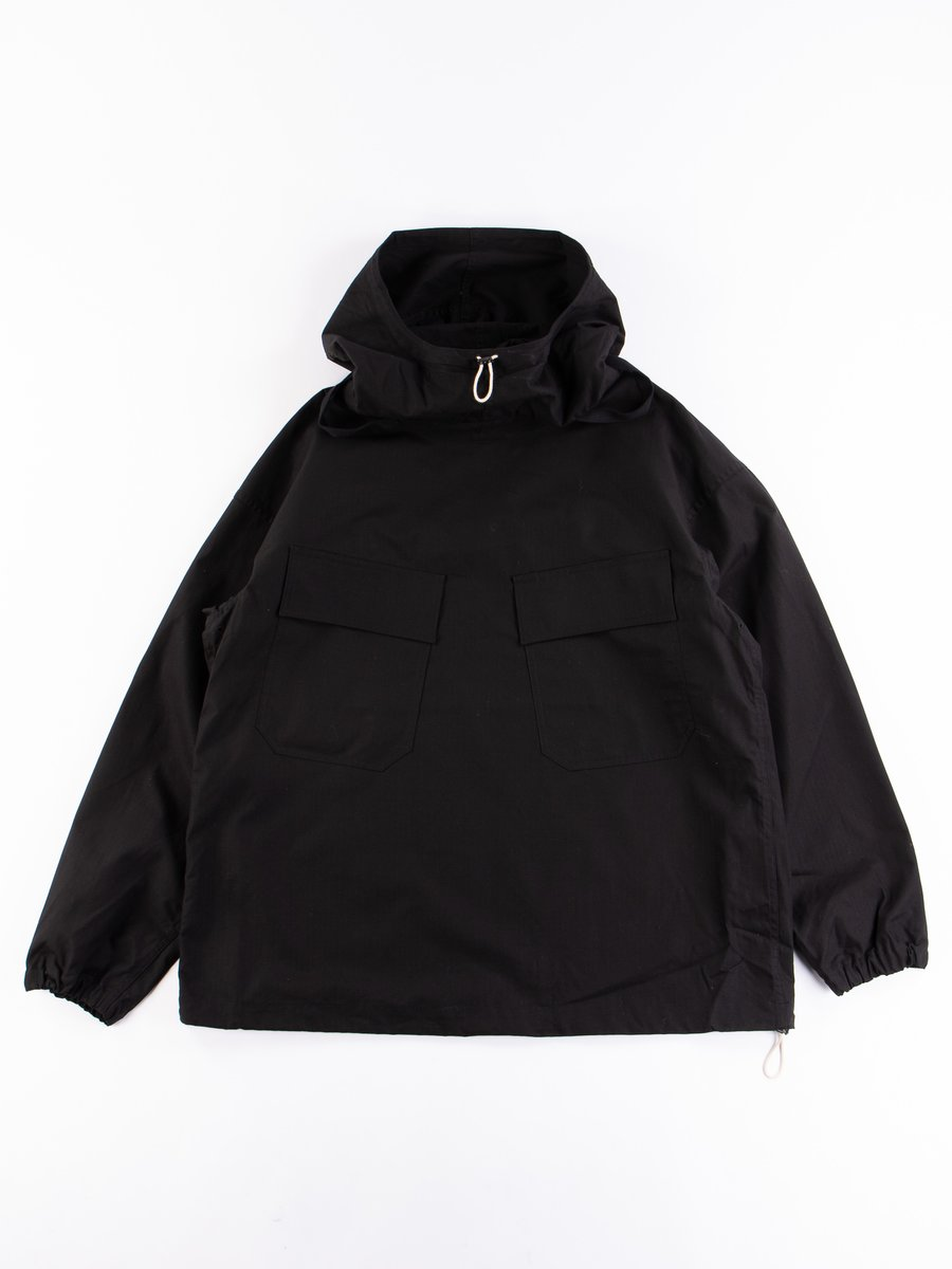 Black Army Ripstop Salvage Parka