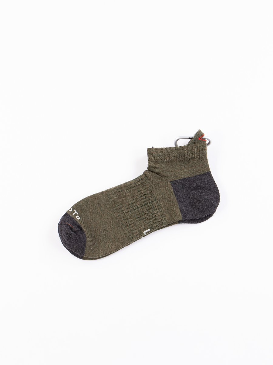Olive/Charcoal Hiker Trash Crew Socks