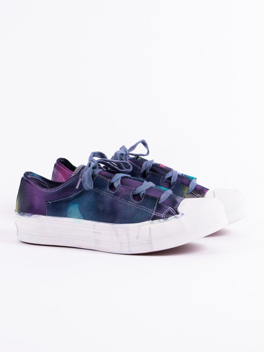 Purple/Yellow Asymmetric Ghillie Sneaker