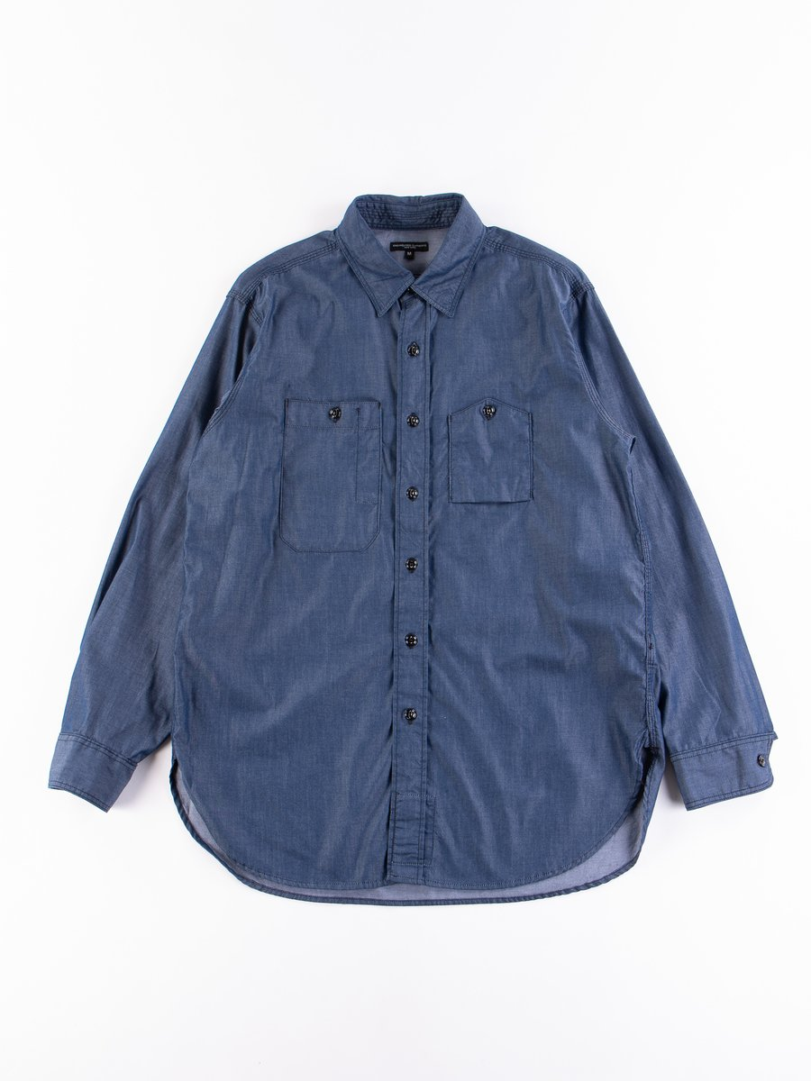 Dark Blue Light Weight Denim Work Shirt