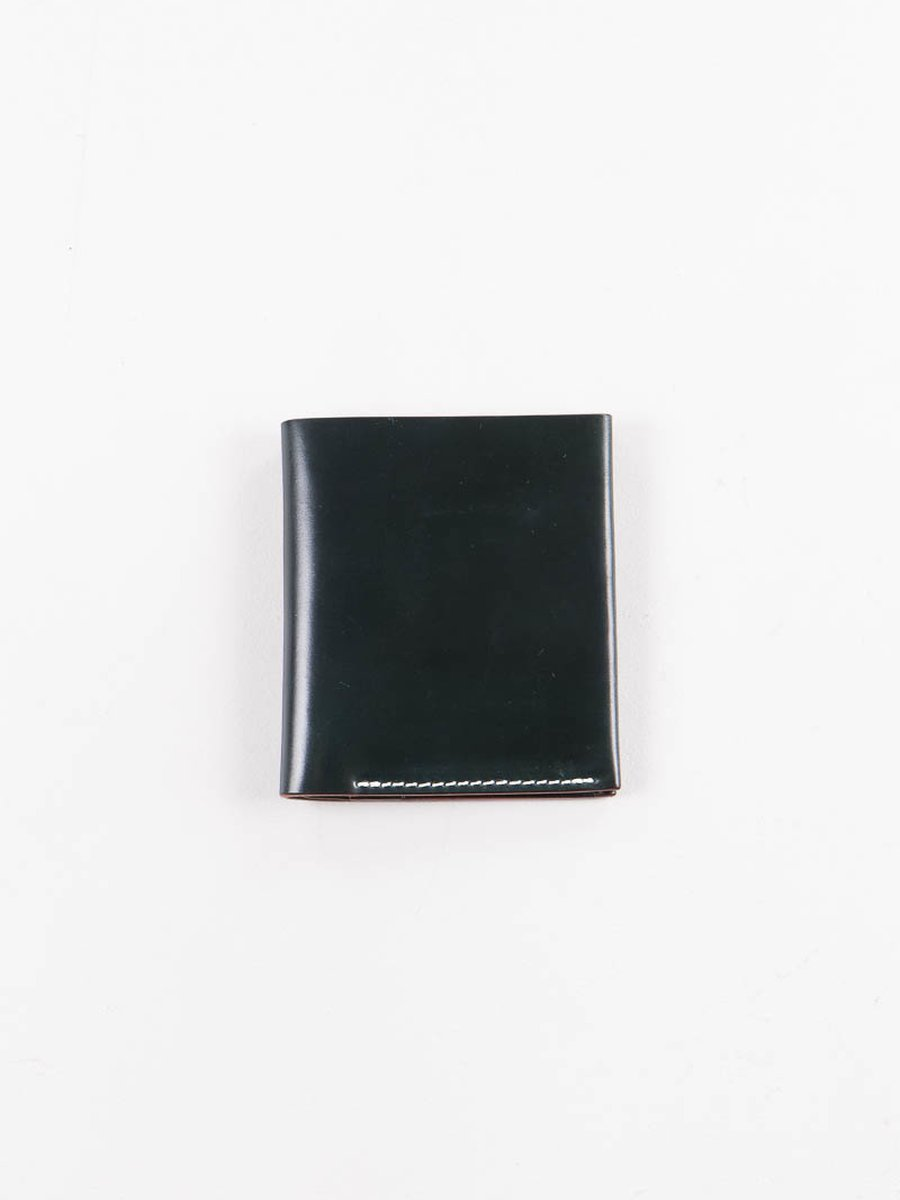 Green Horween Cordovan 2–2 Wallet