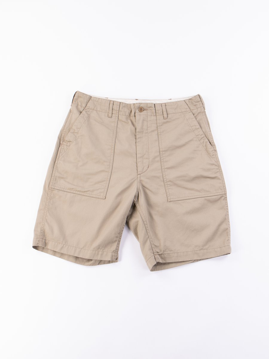 Khaki 6.5oz Flat Twill Fatigue Short