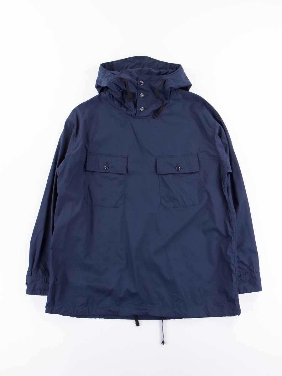 Dark Navy Superfine Poplin Cagoule Shirt