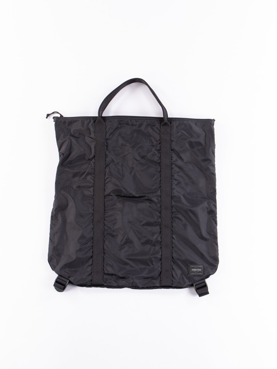 Black Flex 2Way Tote Bag