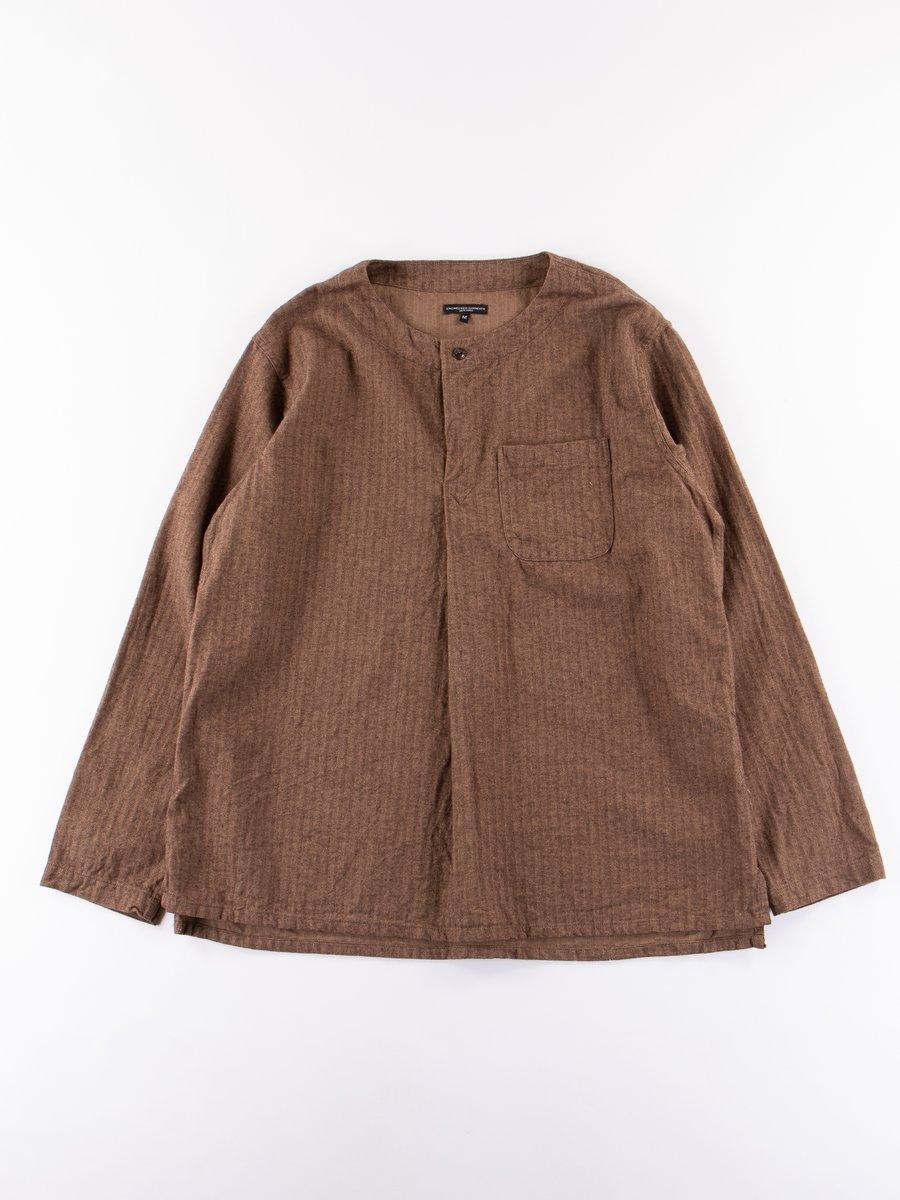 Brown Brushed Herringbone MED Shirt