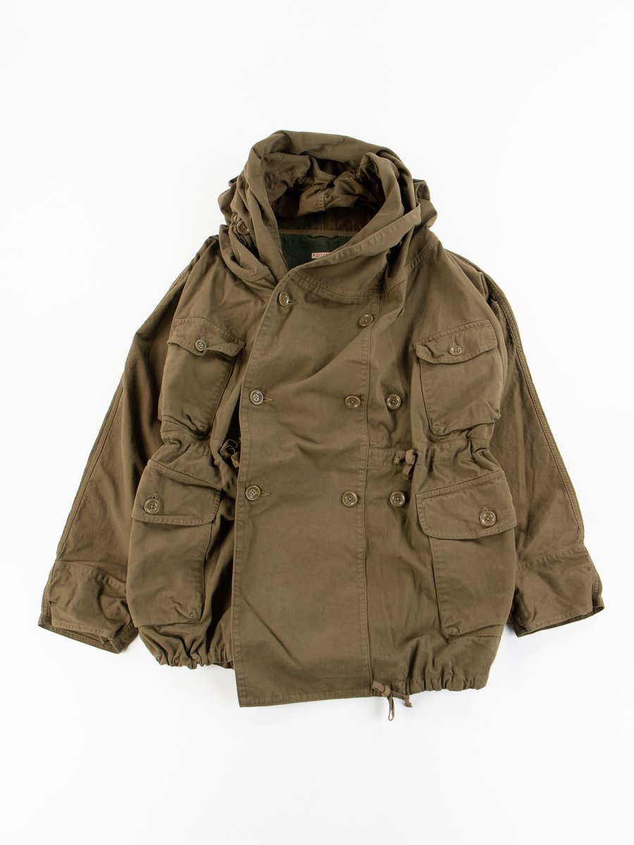 Khaki Katsuragi Cotton Ring Coat