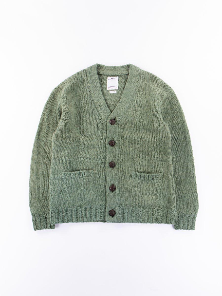 Green Uneven Dye Selmer Long Cardigan