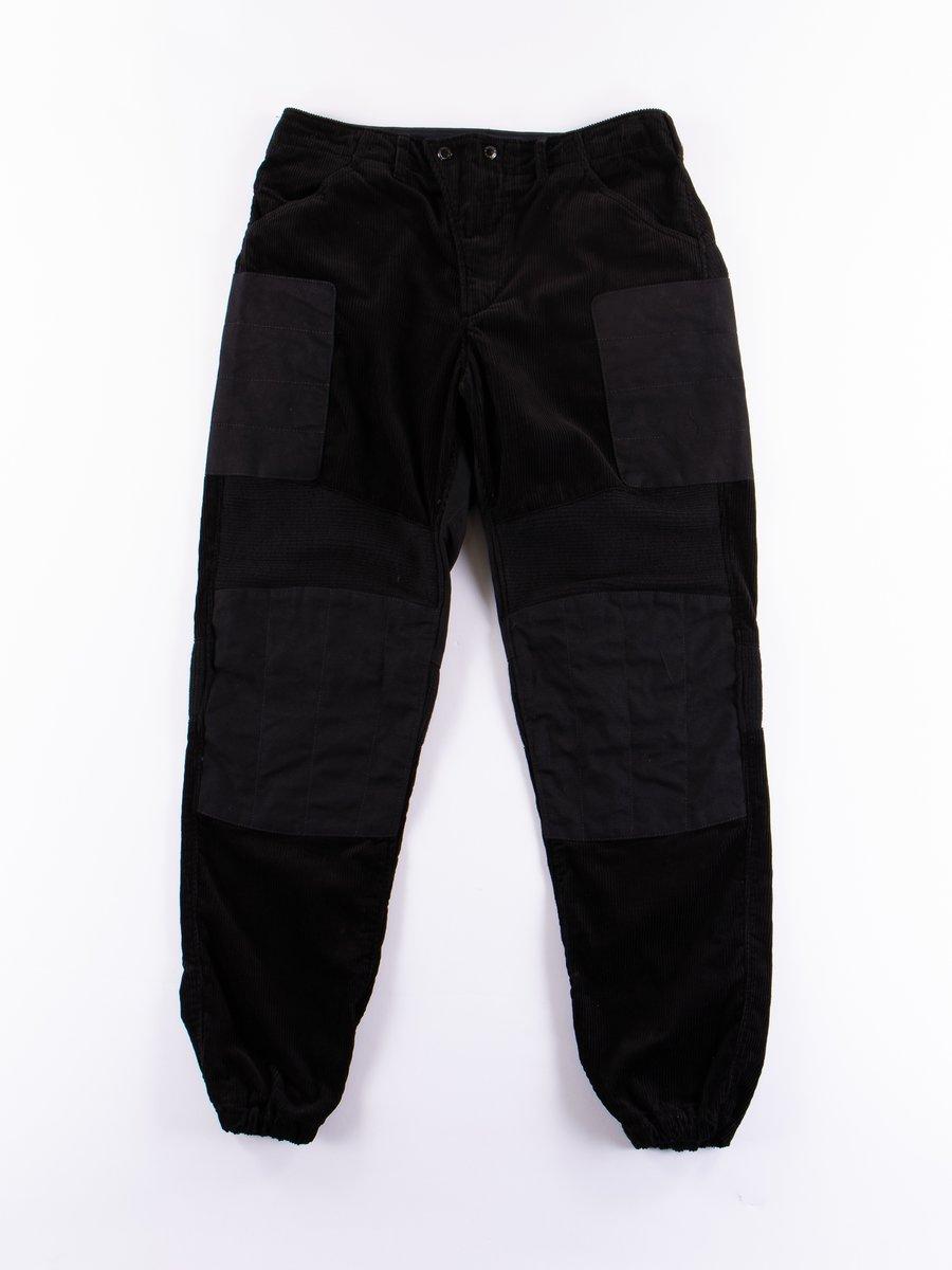 Black 8W Corduroy Moto Pant