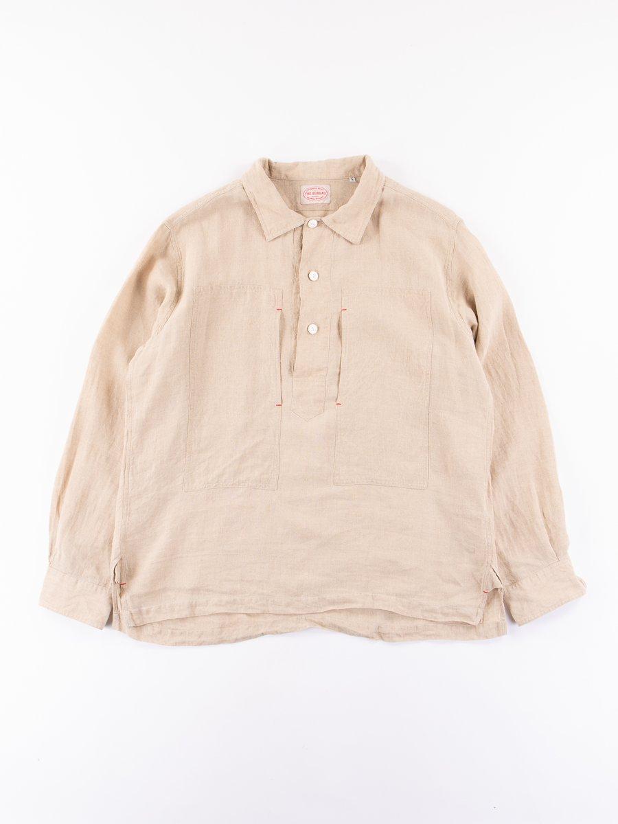 Natural Irish Linen Popover Shirt