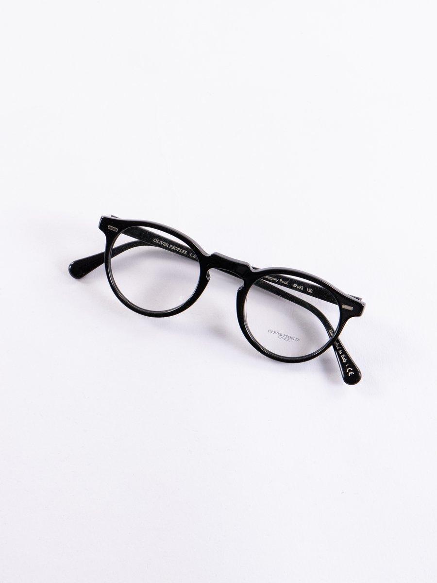 Black Gregory Peck Optical Frame