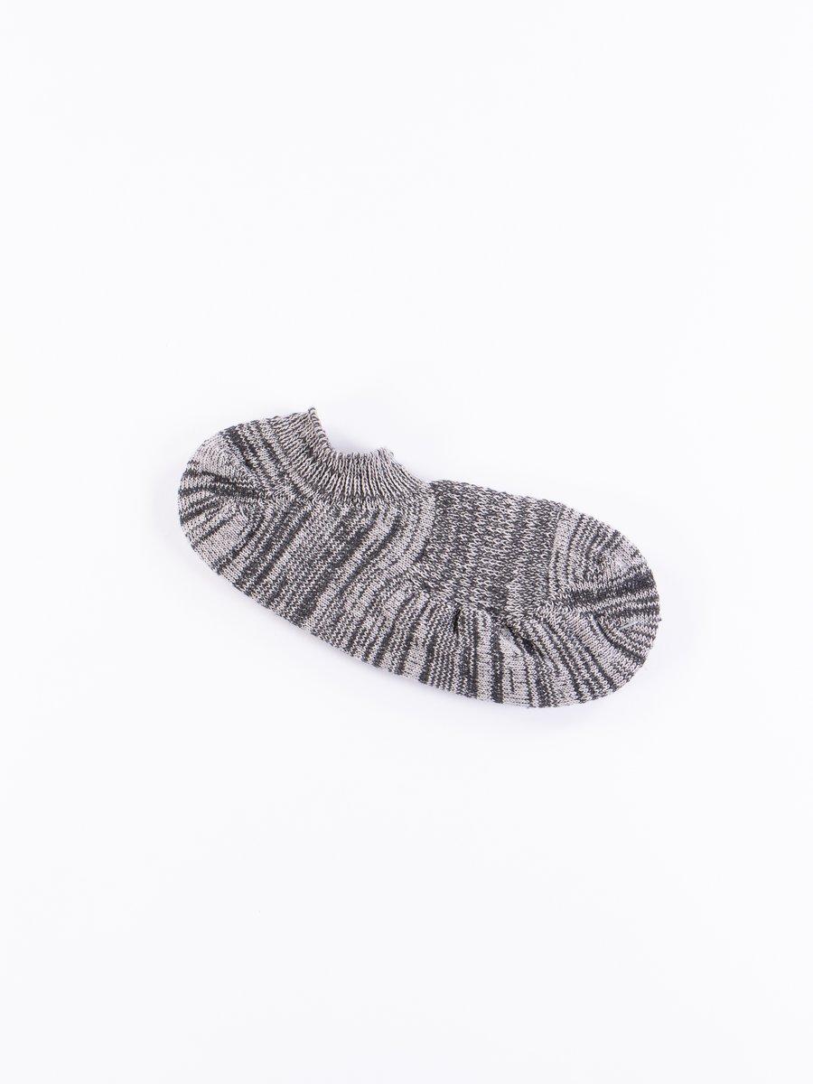 Black Slub Ankle Socks