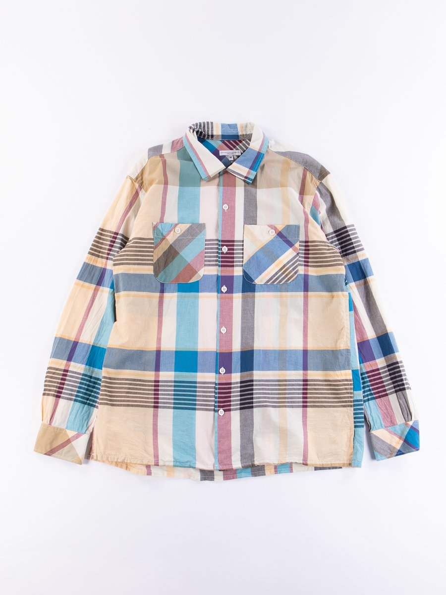 Khaki Big Madras Plaid Classic Shirt