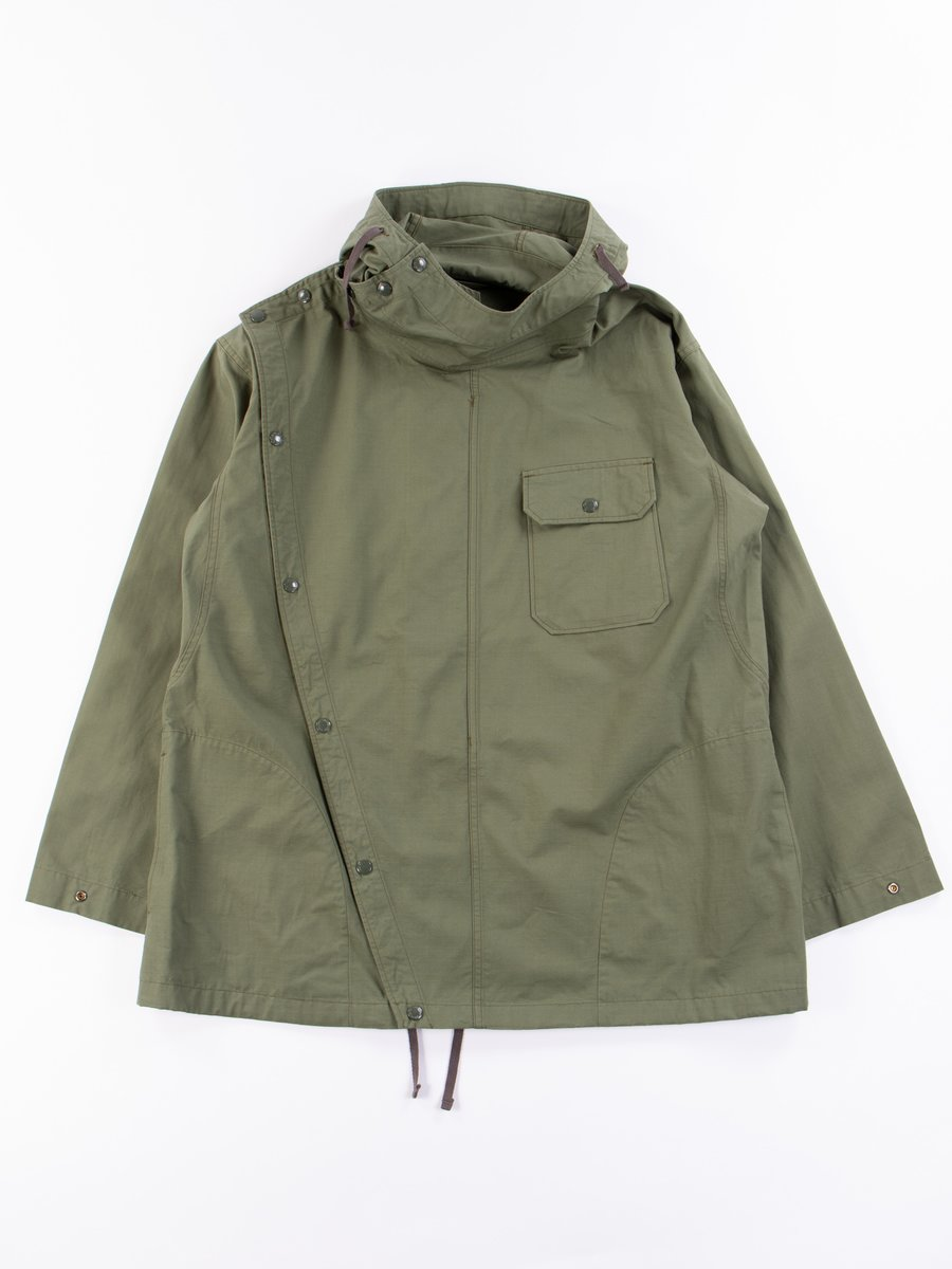 Olive Cotton Ripstop Sonor Shirt Jacket