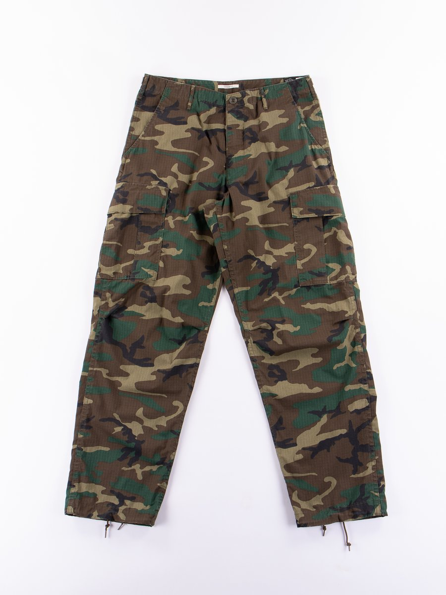 Woodland Camo Ripstop Vintage Fit Cargo Pant