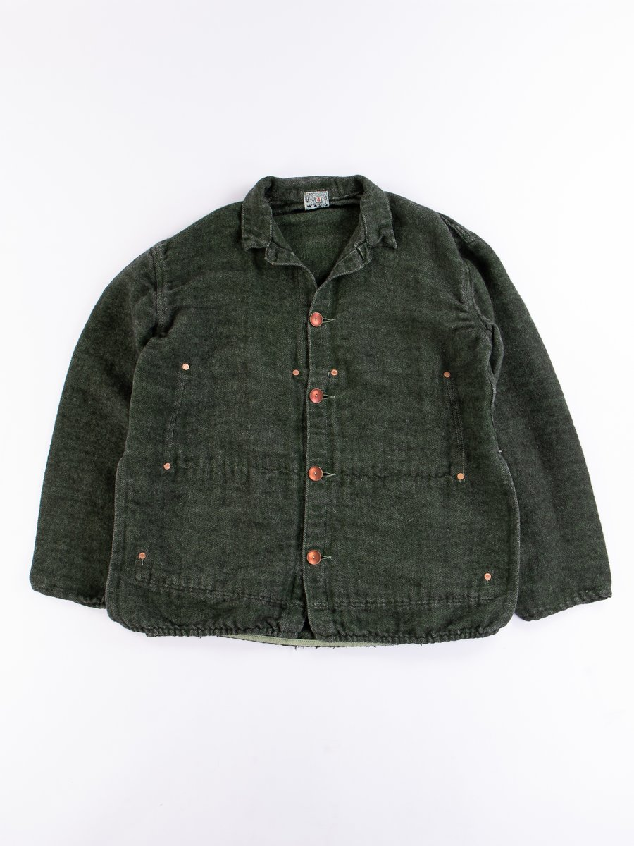 Viridian/Black Cotton/Mohair Janus Jacket