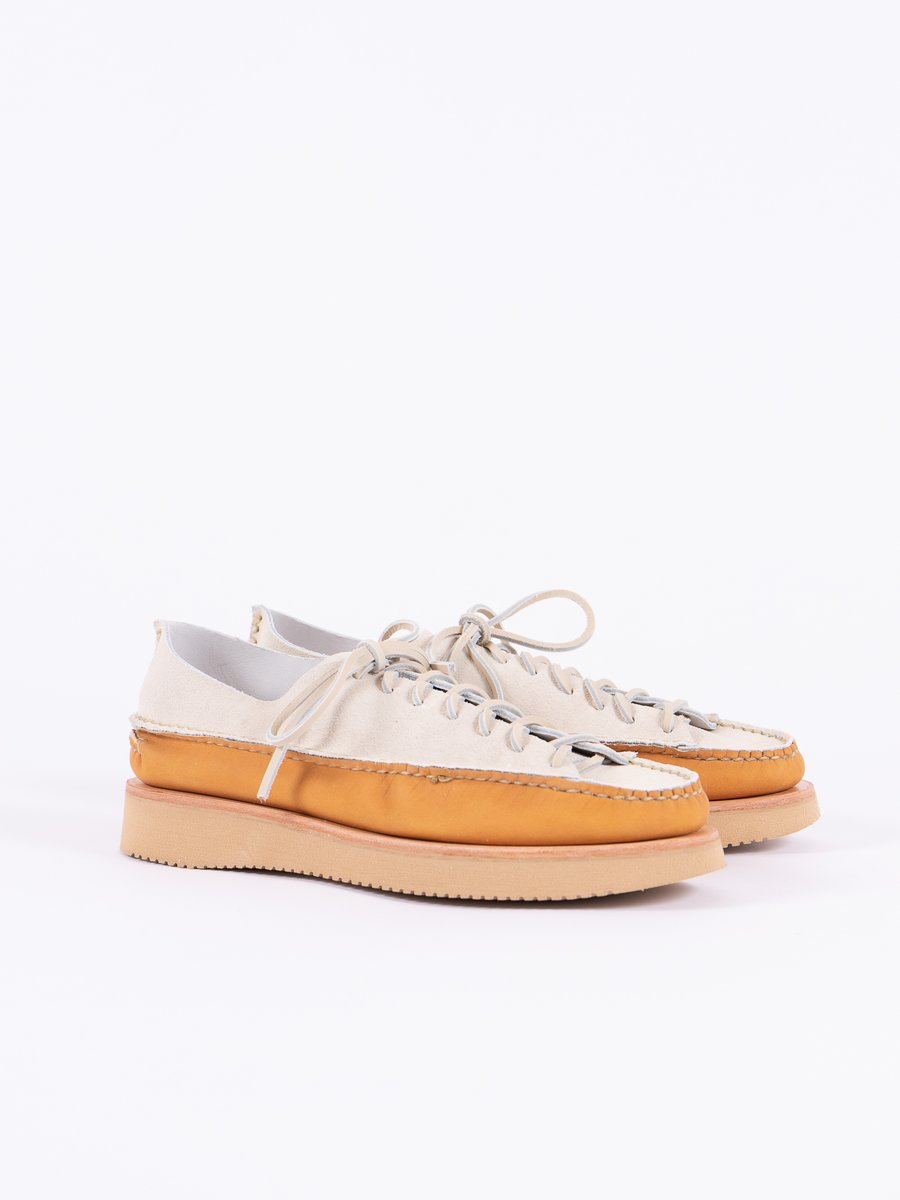 FO White/Tan All Handsewn Sneaker Moc Ox Exclusive