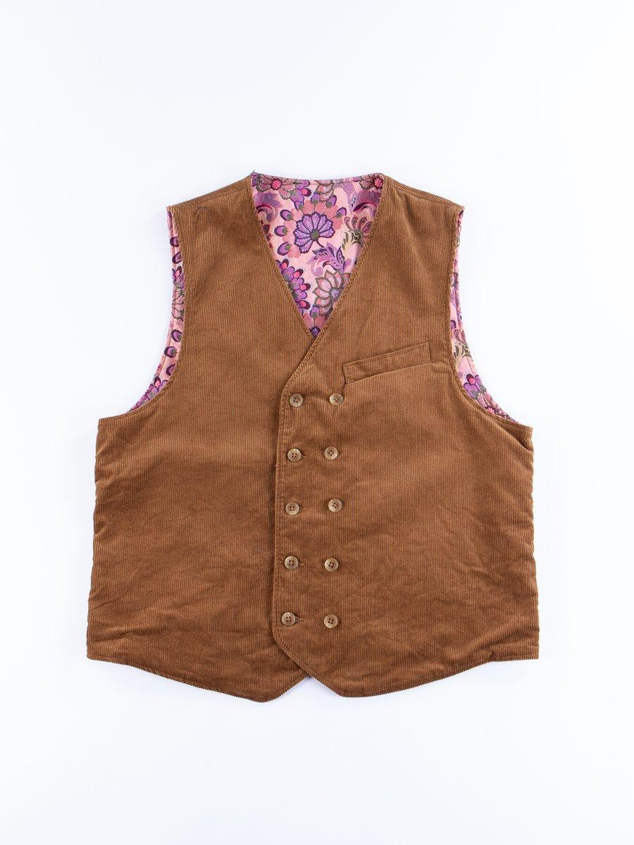 Chestnut Cotton 11W Corduroy Reversible Vest