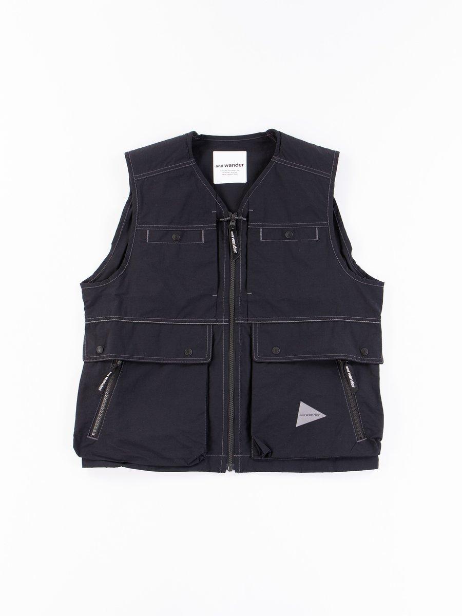 Black Nylon Taffeta Vest