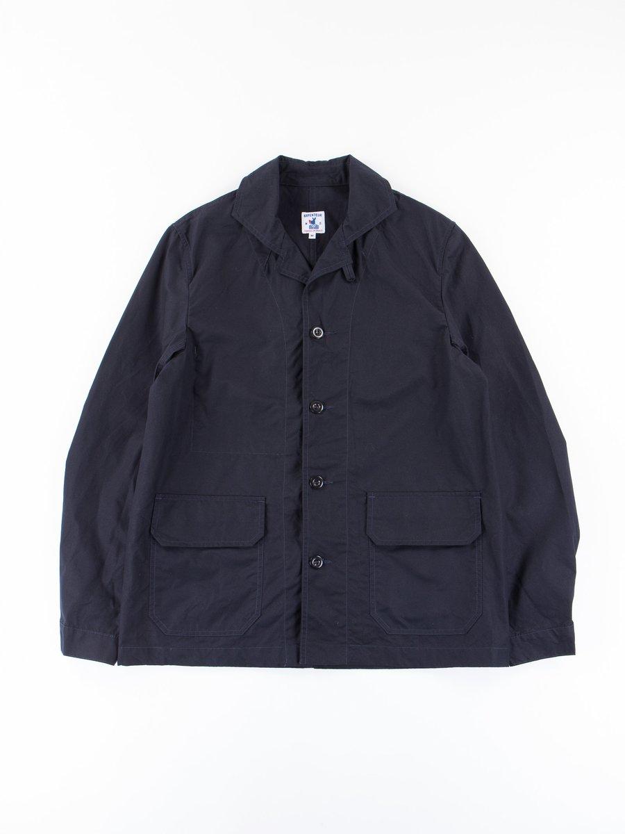 Navy Pima Gabardine Mayenne Jacket