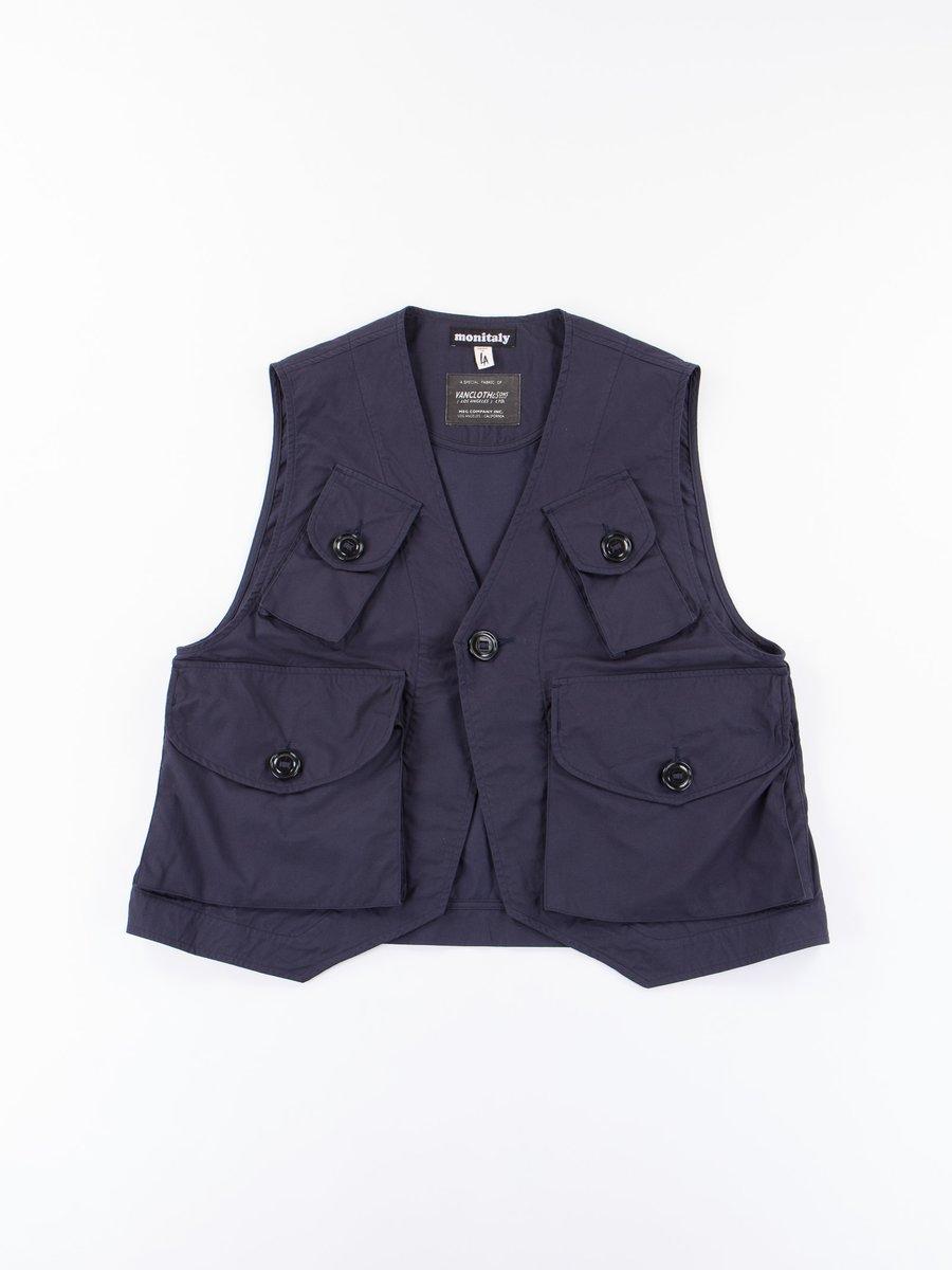 Navy Poplin Vancloth Type C Military Vest
