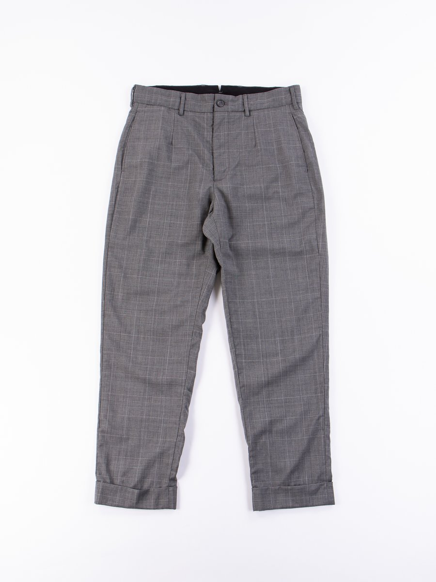 Grey Glen Plaid Tropical Wool Andover Pant