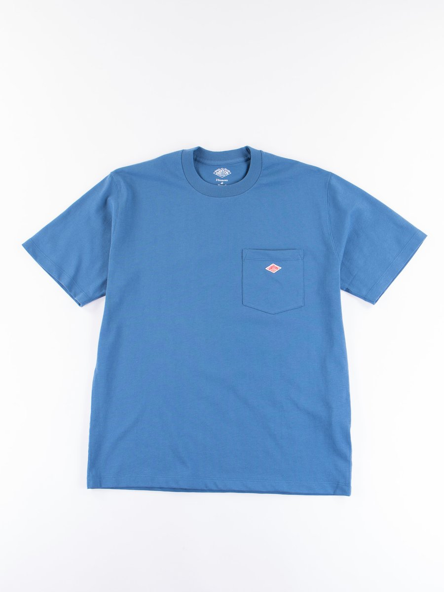 Blue Jersey Cotton T–Shirt