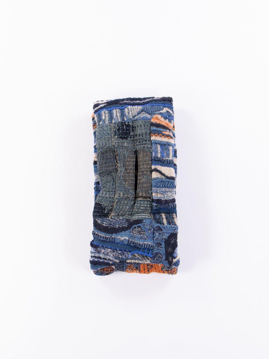 Indigo Boro Gaudy Knit Kesa Scarf