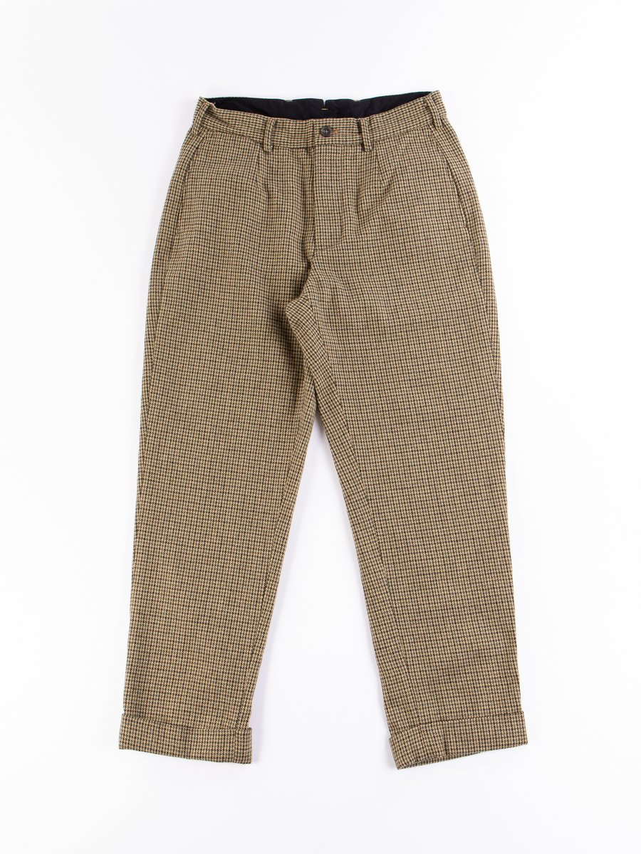 Tan Green Wool Gunclub Check Andover Pant