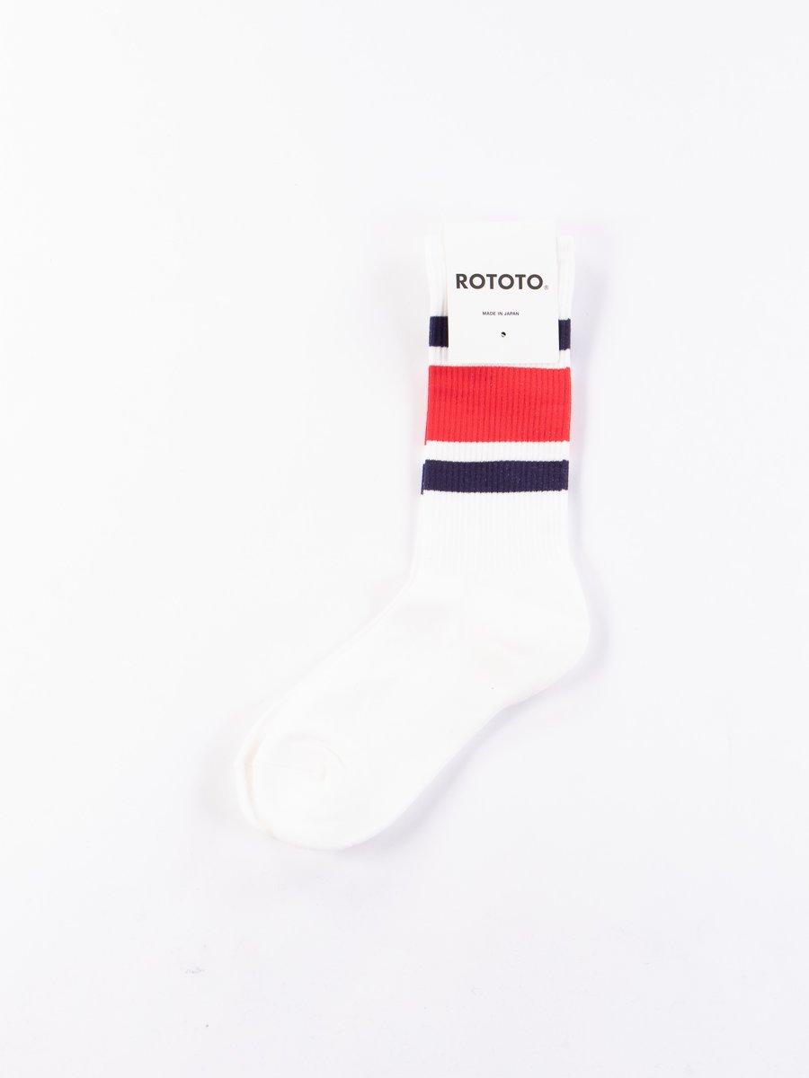 Navy/Red New School Crew Socks