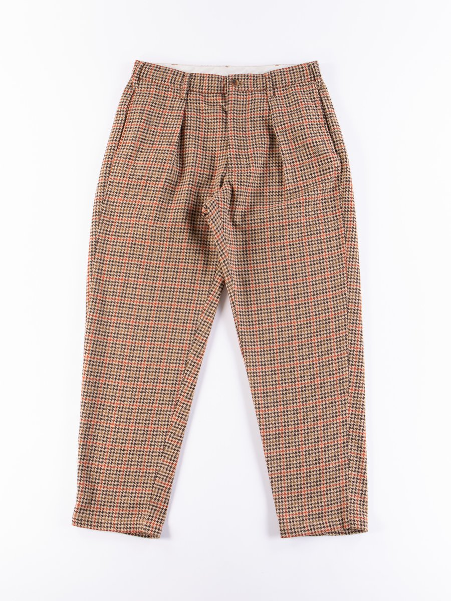 Tan/Orange Wool Poly Gunclub Check Carlyle Pant