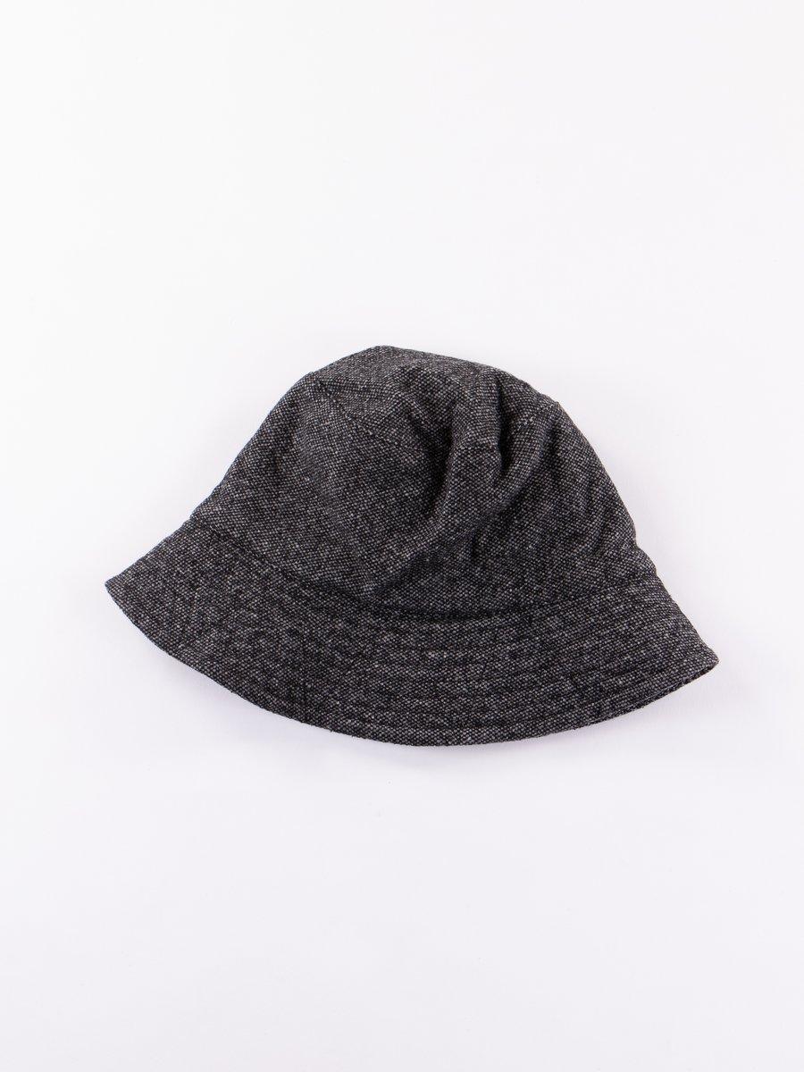 Grey Wool Homespun Bucket Hat