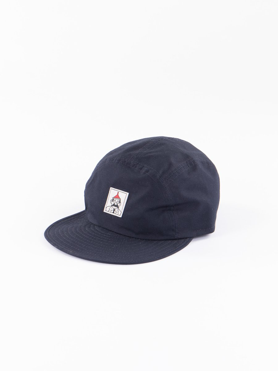 Navy Sail Cloth Pentaque Cap