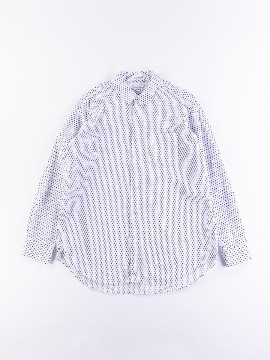 Navy/White Seahorse Print Short Collar Shirt