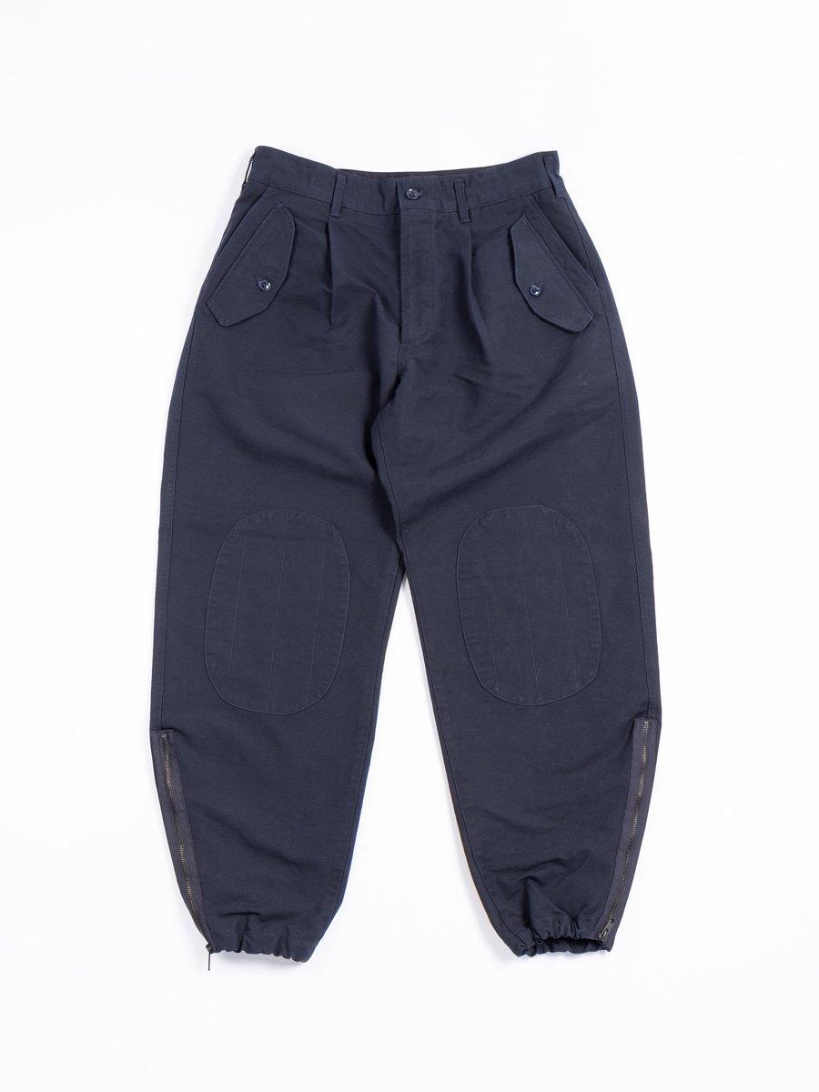 IAC PANT NAVY COTTON DOUBLE CLOTH