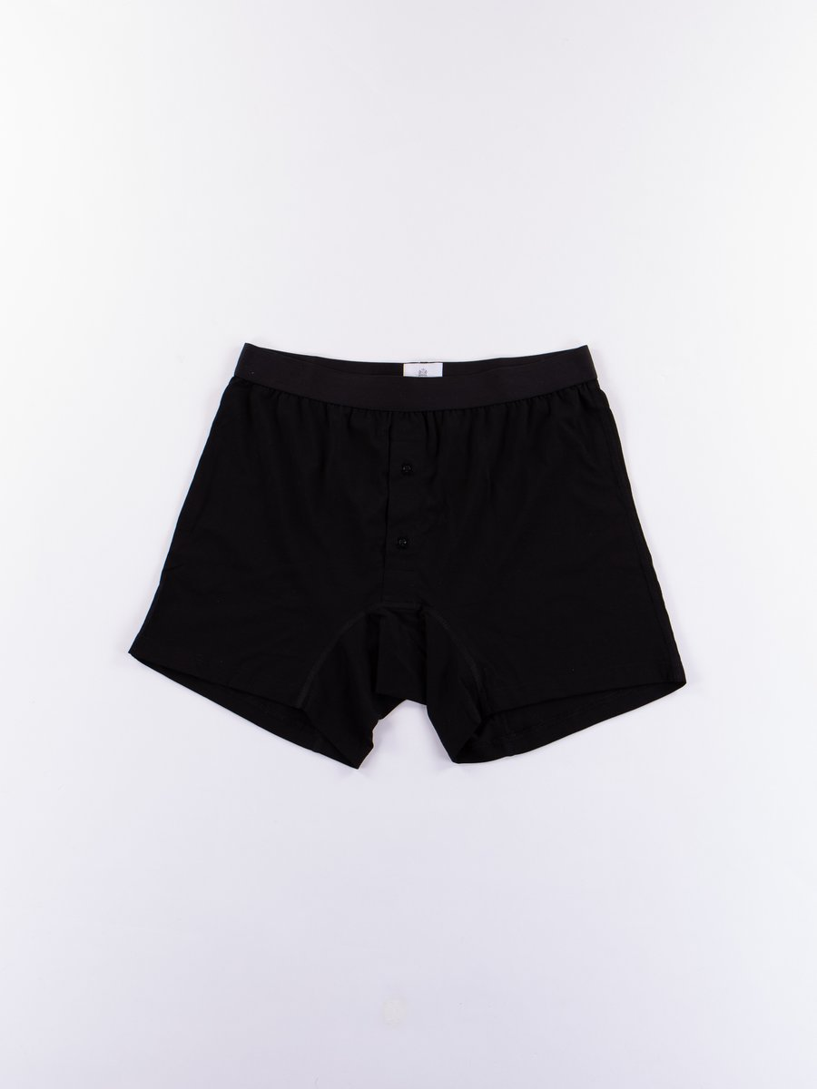 Black Superfine Two Button Short