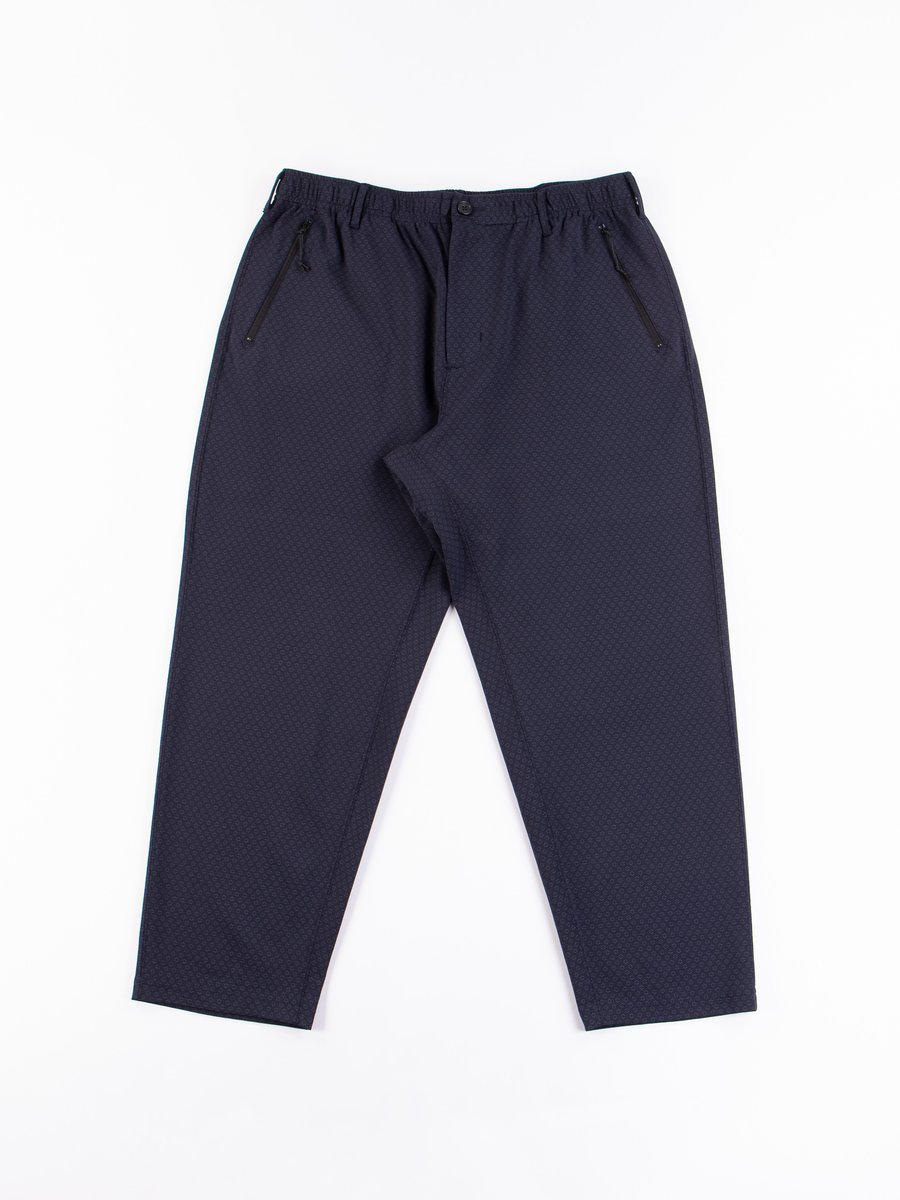 Dark Navy Foulard Jersey Knit Leisure Pant