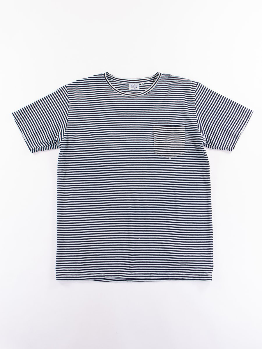 Indigo Stripe Pocket Tee