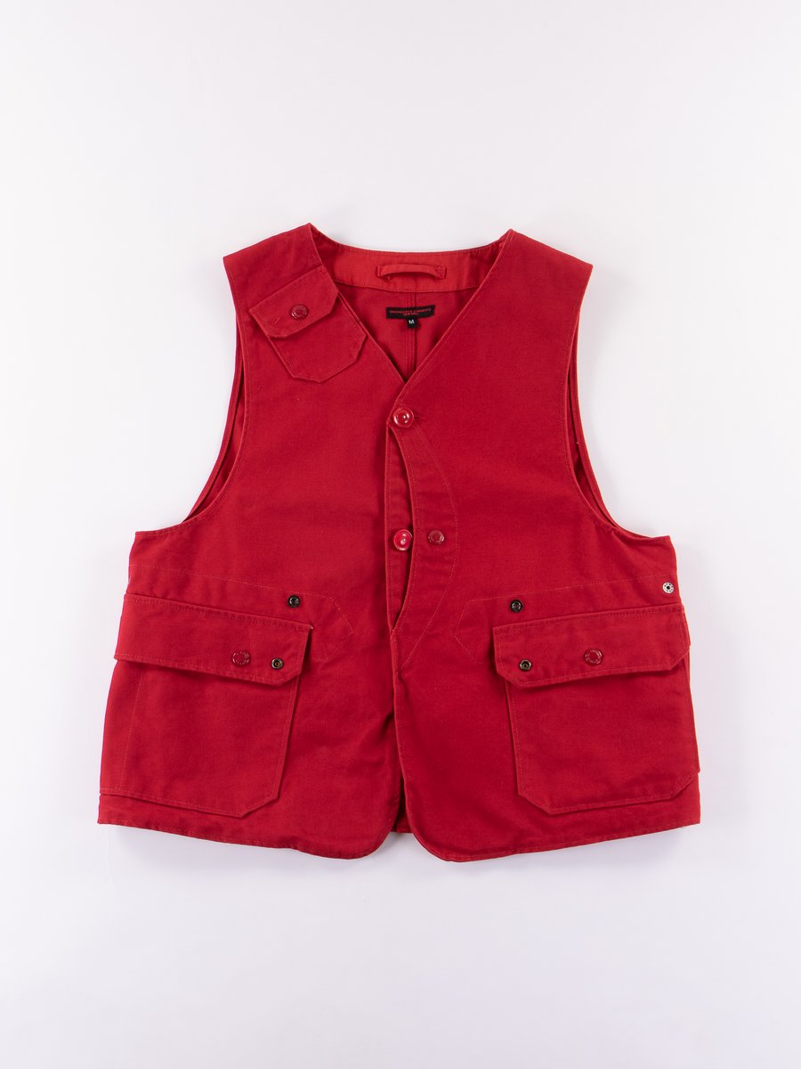 Red 12oz Duck Canvas Upland Vest