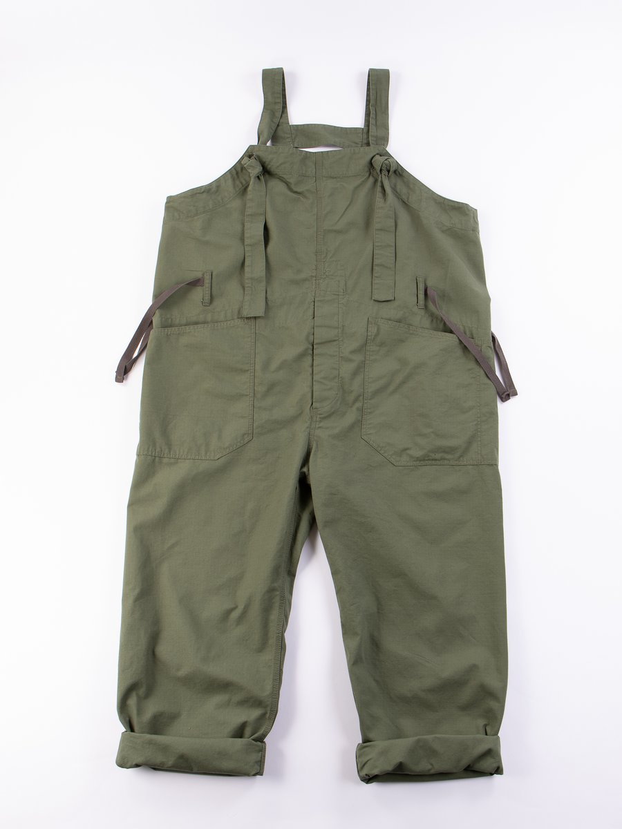 Olive Cotton Ripstop Overalls